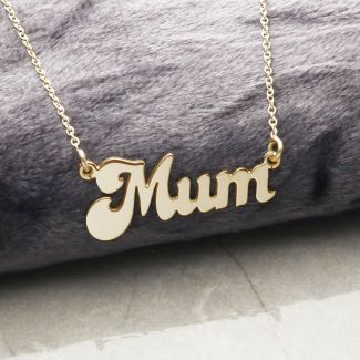 9ct Gold Plated Banana Split Style Mum Necklace