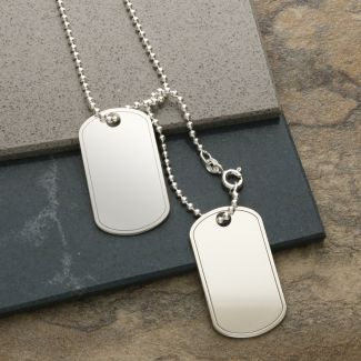 Sterling Silver Double Dog Tags With Optional Engraving