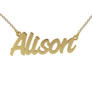 9ct Yellow Gold Plated Challenge Style Personalised Name Necklace