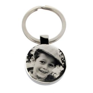 Stainless Steel Photo Engraved Round Keyring