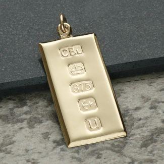 9ct Yellow Gold Large Custom Hallmarked Ingot With Optional Engraving