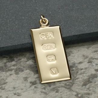 9ct Yellow Gold Custom Hallmarked Ingot With Optional Engraving