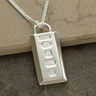 Sterling Silver Heavy Custom Hallmarked Ingot With Optional Engraving