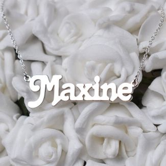 9ct White Gold Terra Style Personalised Name Necklace