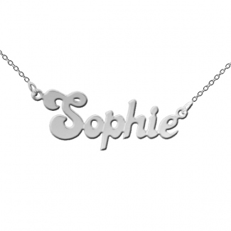 Sterling Silver Banana Split Style Name Necklace
