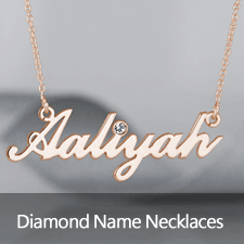 Name Necklaces with Diamonds
