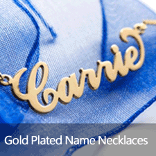 Yellow Gold Plated Name Necklaces