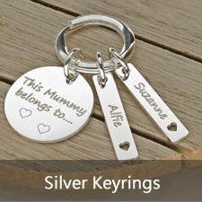 Sterling Silver Keyrings