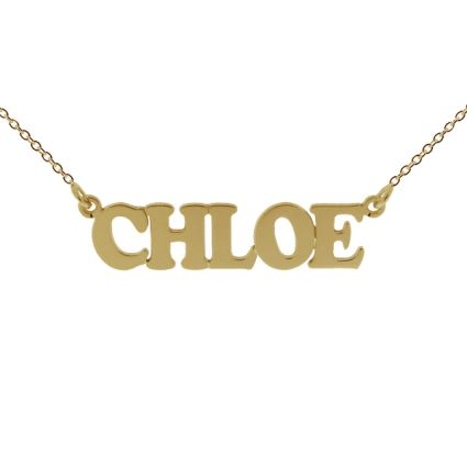 9ct Yellow Gold Plated Cooper Style Personalised Name Necklace