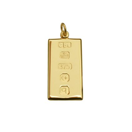 9ct Yellow Gold Small Custom Hallmarked Ingot With Optional Engraving