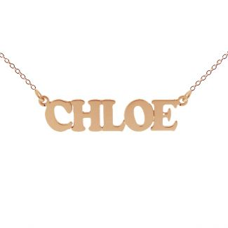 9ct Rose Gold Plated Cooper Style Personalised Name Necklace
