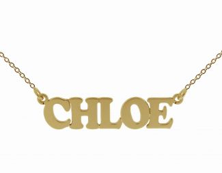 9ct Yellow Gold Cooper Style Personalised Name Necklace