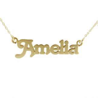 9ct Yellow Gold Plated Terra Style Personalised Name Necklace