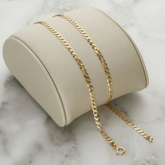 Solid Yellow Gold 2.7mm Curb Chain