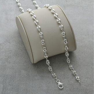 Sterling Silver 4mm Coffee Bean Bracelet