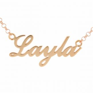 9ct Rose Gold Plated Carrie Style Personalised Name Necklace (Sex & The City)