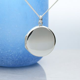 Sterling Silver Round Locket With Optional Engraving
