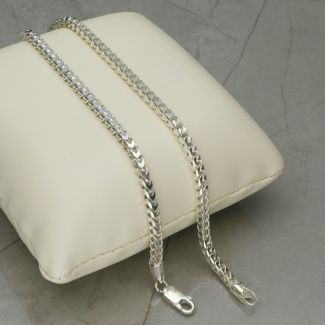 Sterling Silver 3mm Franco Chain