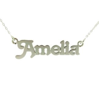 Sterling Silver Terra Style Personalised Name Necklace