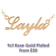 Rose Gold Plated Name Necklaces