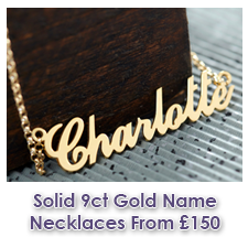 Solid Gold Name Necklaces