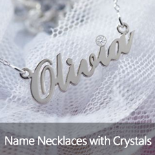 Name Necklaces with Crystal