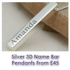 Sterling Silver 3D Name Bar