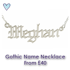 Meghan Love Island Name Necklace