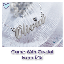 Sterling Silver Name Necklace With Crystal