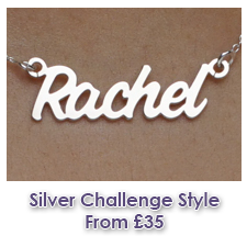 Sterling Silver Challenge Style Name Necklace